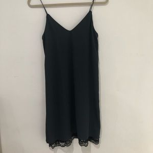 Zara Blue & Black lace dress